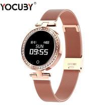 цена X10 Ladies Smart Watch Round for Women IP68 Heart Rate Blood Pressure Monitor Message Call Reminder Pedometer Calorie Smartwatch онлайн в 2017 году