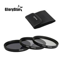 GloryStar 3 in 1 Grau ND2 ND4 ND8 Objektiv Filter Kit Set 49mm 52mm 55mm 58mm 62mm 67mm 72mm 77mm für Canon Nikon Sony Pentax Kamera