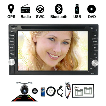 Car Video 2 din car dvd player universal monitor USB SD Audio GPS stereo in dash Bluetooth auto Parking monitor with mirror link image