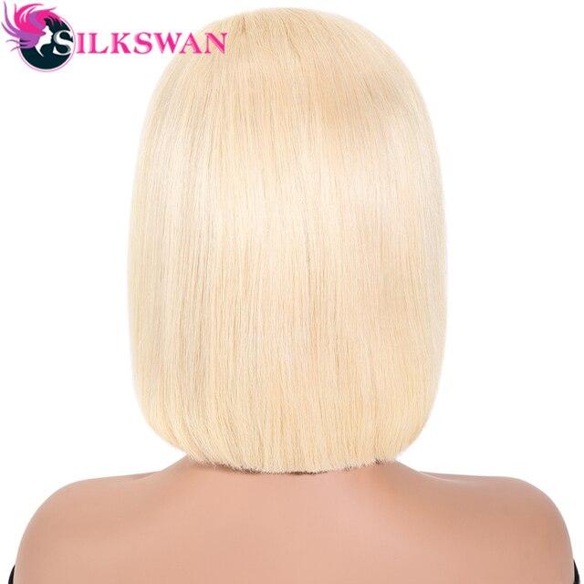 Peluca Rubia de 13x6, pelucas frontales de encaje prepeladas, cabello Remy brasileño de seda, pelucas de cabello humano Rubio liso 150% para mujeres