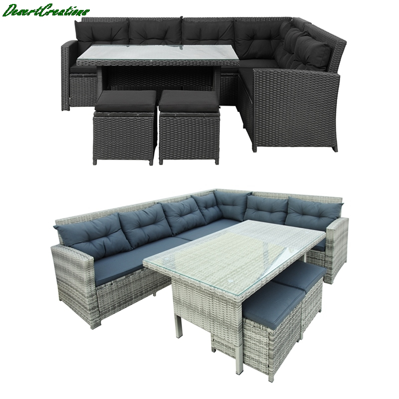 6 Piece Patio Furniture Set Outdoor, Outdoor Patio Set With Ottomans