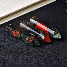 1pc ponto de cristal natural pedra de cura pedra de sangue africano coluna de quartzo reiki obelisco varinha ornamento casa decoração energia mineral