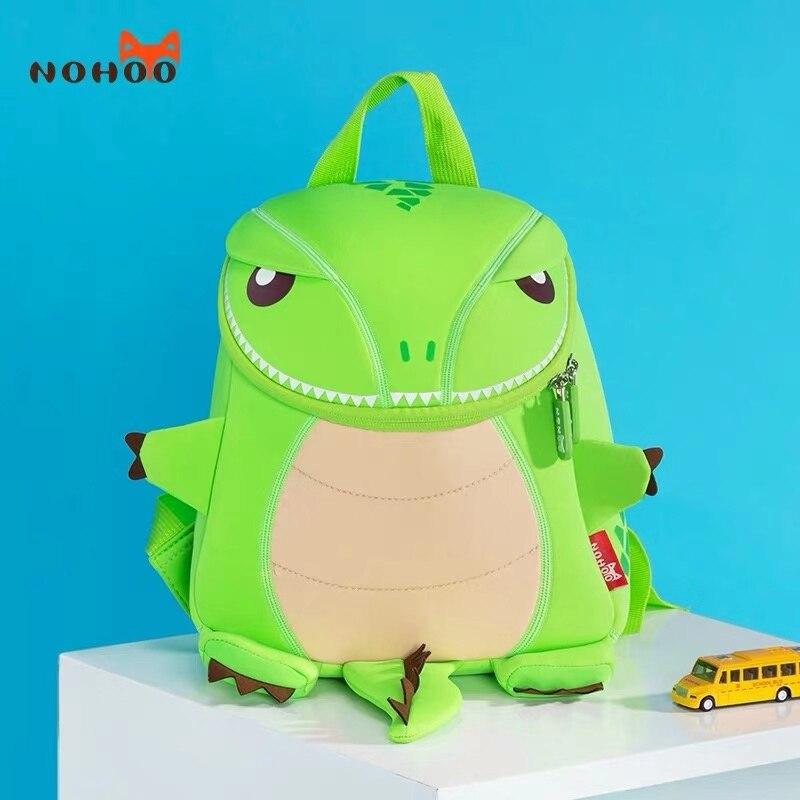 NOHOO School Backpack Boys 3D Cartoon Dinosaur High Capacity Kids Bags Kindergarten Schoolbag Japanese School Bag Fast Delivery