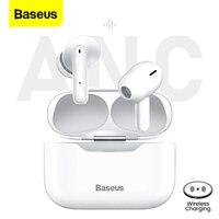 Baseus S1 TWS Bluetooth 5,1 Wahre Drahtlose Kopfhörer Kopfhörer ANC Aktive Lärm Stornierung Stereo Ohrhörer Handfree Für iPhone 12