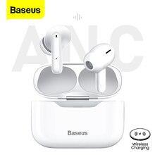 Baseus s1 tws bluetooth 5.1 verdadeiro sem fio fone de ouvido anc cancelamento ruído ativo estéreo fones handfree para iphone 12