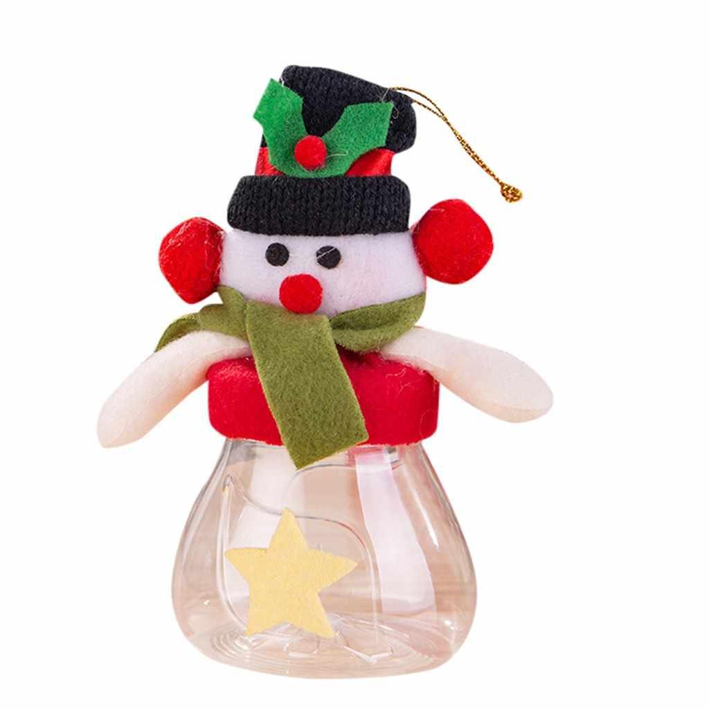 Bonito Biscoitos de Presente de Natal Doces Lata de Armazenamento De Decoração Para Casa De Armazenamento De Alimentos Jar para Home Decor Xmas Decoração do Ano Novo 2020