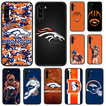 Rugby Denver Bronco Football Phone case For Huawei P 9 Smart 10 20 30 40 8 Lite Mini Z 2019 Pro black hoesjes soft funda fashion image