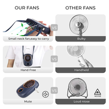 Neck Fan Portable Electric Fans Air Cooler Cooling Mini USB Rechargeable Handheld Outdoor Mute Hand Neckband Pocket Ventilador