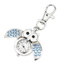 Модные шикарные Часы в виде совы Карманный Брелок автоматические