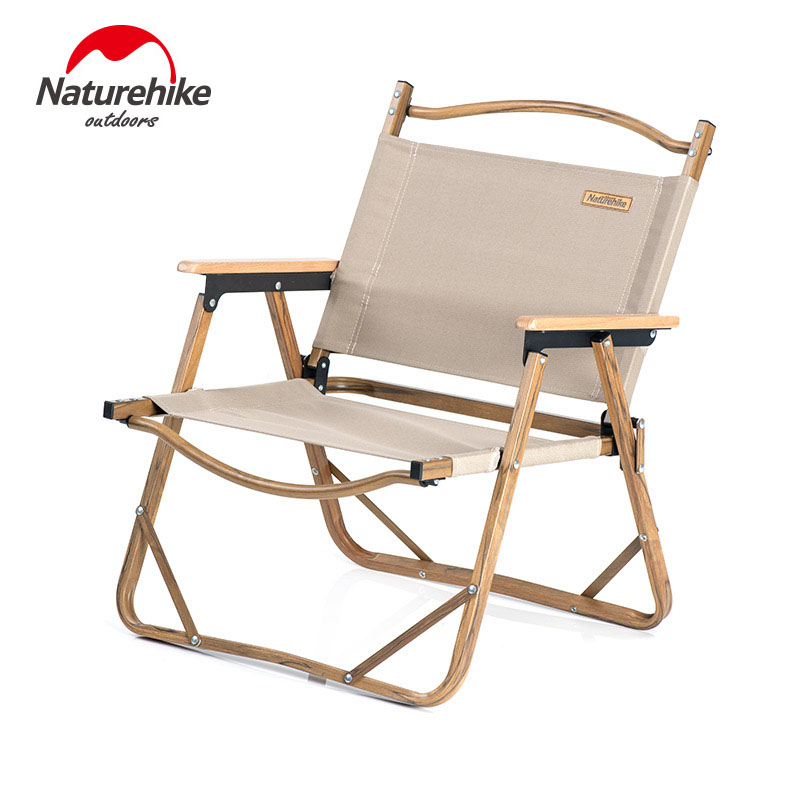 Naturehike Outdoor Leisure Folding Chair Portable Ultralight Camping Fishing Picnic Chair Aluminum Wood Grain Nap Beach Chair