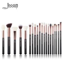 Jessup Rose Gold /Black Professional Makeup Brushes Set Make up Brush Tools kit Foundation Powder Brushes natural synthetic hair