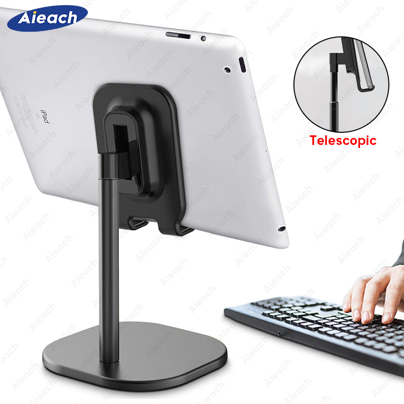 Aieach For IPad Stand Holder For 8.0 To 11 Inch Adjustable Universal Desktop Tablet Holder For Xiaomi Samsung Huawei Tablet Moun