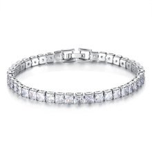 2019 new trendy princess 19cm 6mm 925 sterling silver bracelet bangle for women anniversary gift jewelry wholesale moonso S5452 moonso
