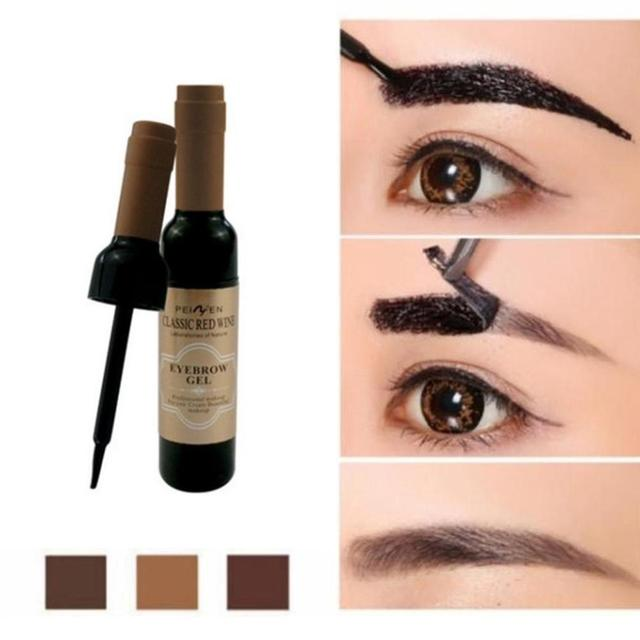 2Pcs Eyebrow Tattoo Gel Black Coffee Gray Peel Off Eye Brow Shadow Eyebrow Gel Makeup for Women High Pigmented Makeup