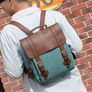 Image 5 - Fashion Women Backpack PU Leather School Bag Vintage Large Schoolbag For Teenage Girls Brown Black Backpacks Men Rucksack XA30H