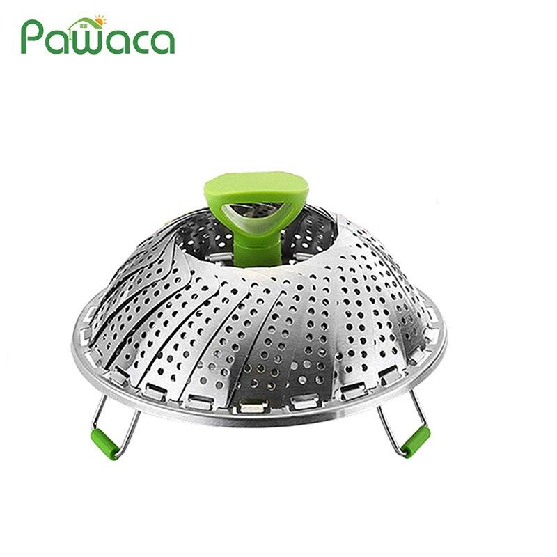 Vegetable Steamer Basket For Pots Stainless Steel Folding Steamer Cookware Steaming Food Basket Fits Instant Pot Pressure Cooker