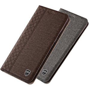 PU leather flip coque cases on