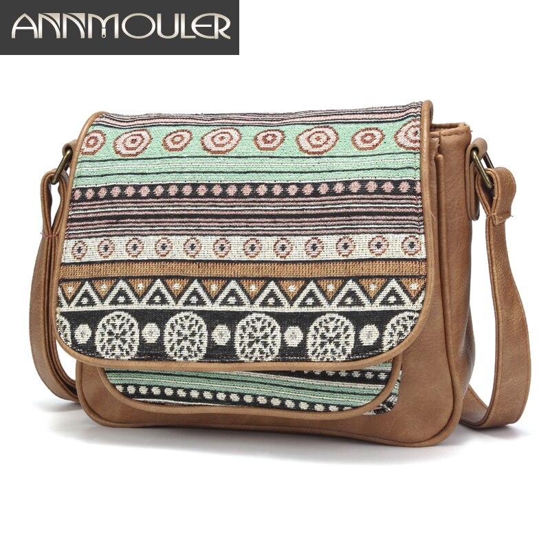 Vintage Women Bag High Quality Shoulder Bag Bohemian Style Crossbody Bag For Girls Pu Leather Messenger Bag Small Flap Bag Purse