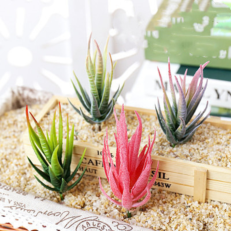 Assorted Realistic Green Faux Artificial Succulent Plants Aloe Foliage Fake Plastic Green Cactus Home Garden Decoration Hot Sale