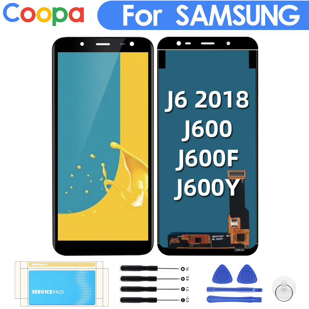 5.6 Inch For Samsung Galaxy J6 2018 J600 J600F J600F/DS Tested LCD Display With Touch Screen Digitizer Assembly Replacement