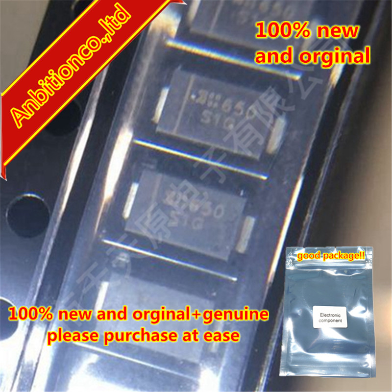 50pcs 100% New And Orginal S1G-13-F DO-214AC SMA 400V 1A 1.0A SURFACE MOUNT GLASS PASSIVATED RECTIFIER In Stock