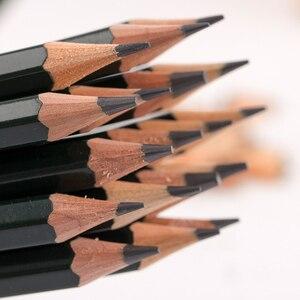 Image 5 - 12 개/몫 미쓰비시 유니 9800 드로잉 연필 멀티 그레이 스케일 연필 쓰기 용품 사무실 및 학교 용품 도매