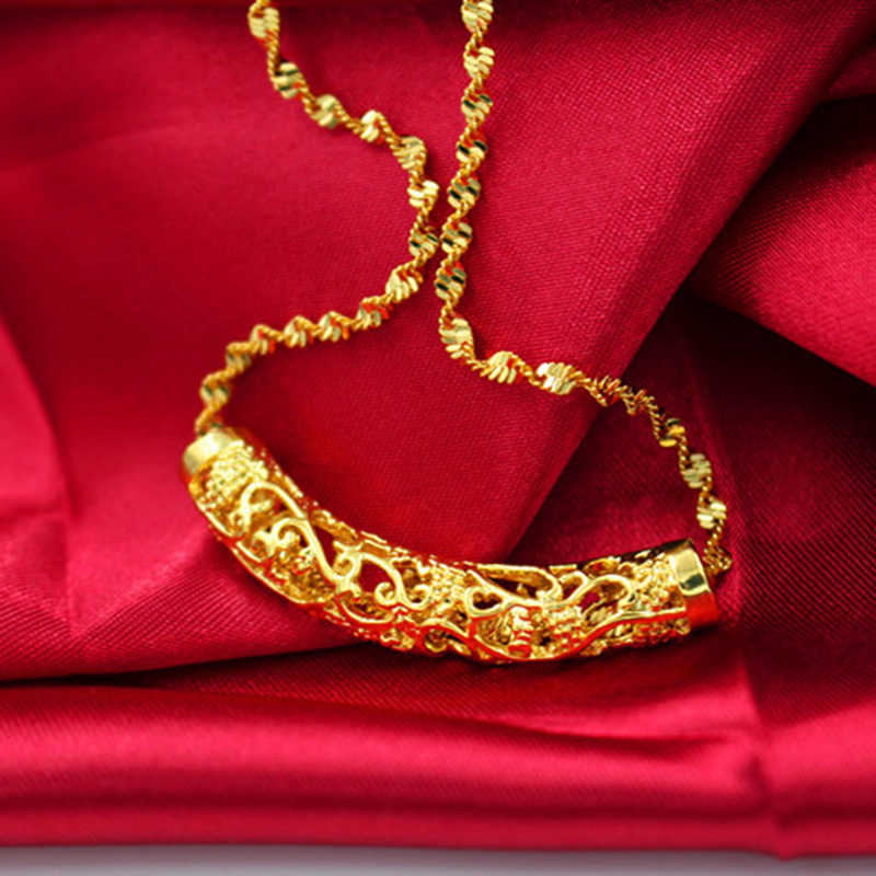 new arrival 24K gold filled pendant necklace ladies wedding jewelry wholesale center ladies necklace women's popular necklace