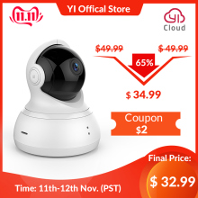 YI Camera 1080P Surveillance-System Complete Night-Vision Black Ip-Security Tilt/zoom