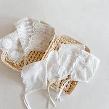 Baby Meisjes Lace Caps Hoeden Leuke Mooie Pasgeboren Baby Fotografie Props Bloem Motorkap Hoed Kid Prinses Witte Katoenen Caps
