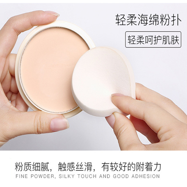 Transparent Pressed Powder Long Lasting Oil Control Face Foundation Waterproof Whitening Skin Finish Concealer 4