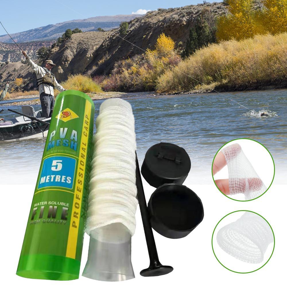 18/37/25/44mm VPVA Water Soluble Fishing Nets Supplement Nest Fishing Network Net Bag Refill Net Bag PVA 5m Portable Accessories