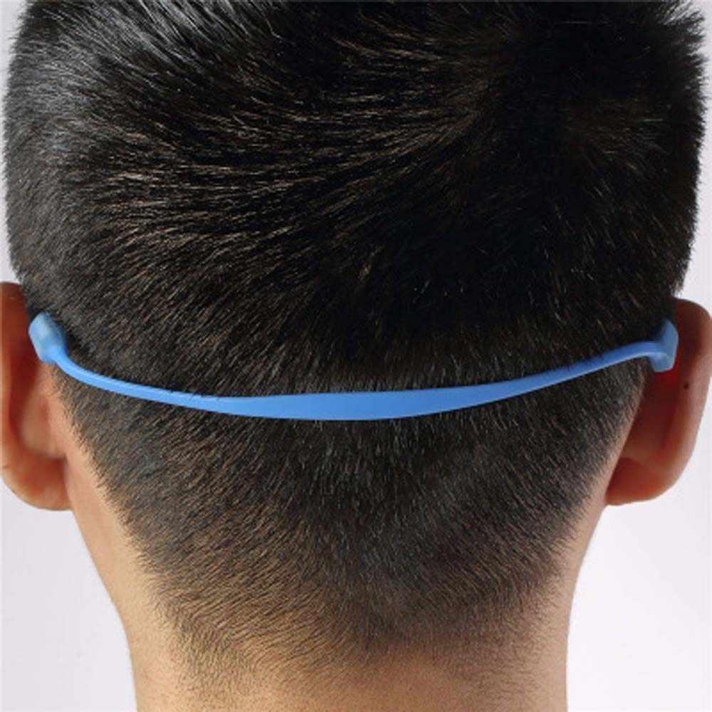 1 pc cor sólida silicone óculos cinta pescoço cabo para crianças óculos de sol banda corda titular eyewear acessórios