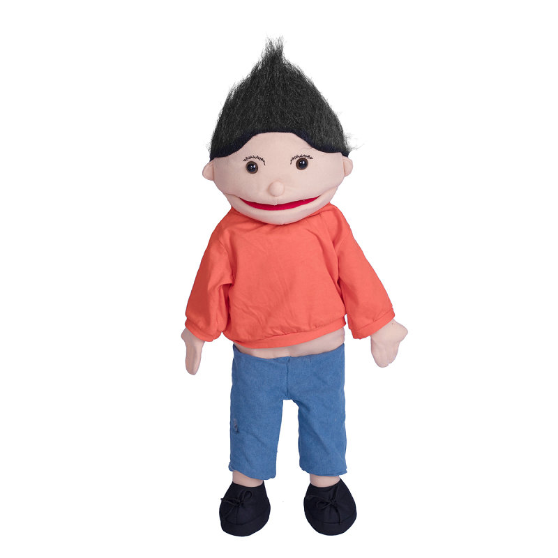 1pcs 60cm The Cute  Mouth Can Move Handdoll Show Up Hand And Puppet Ventriloquial Doll For Kids Gift Clothes Are Removable Plush