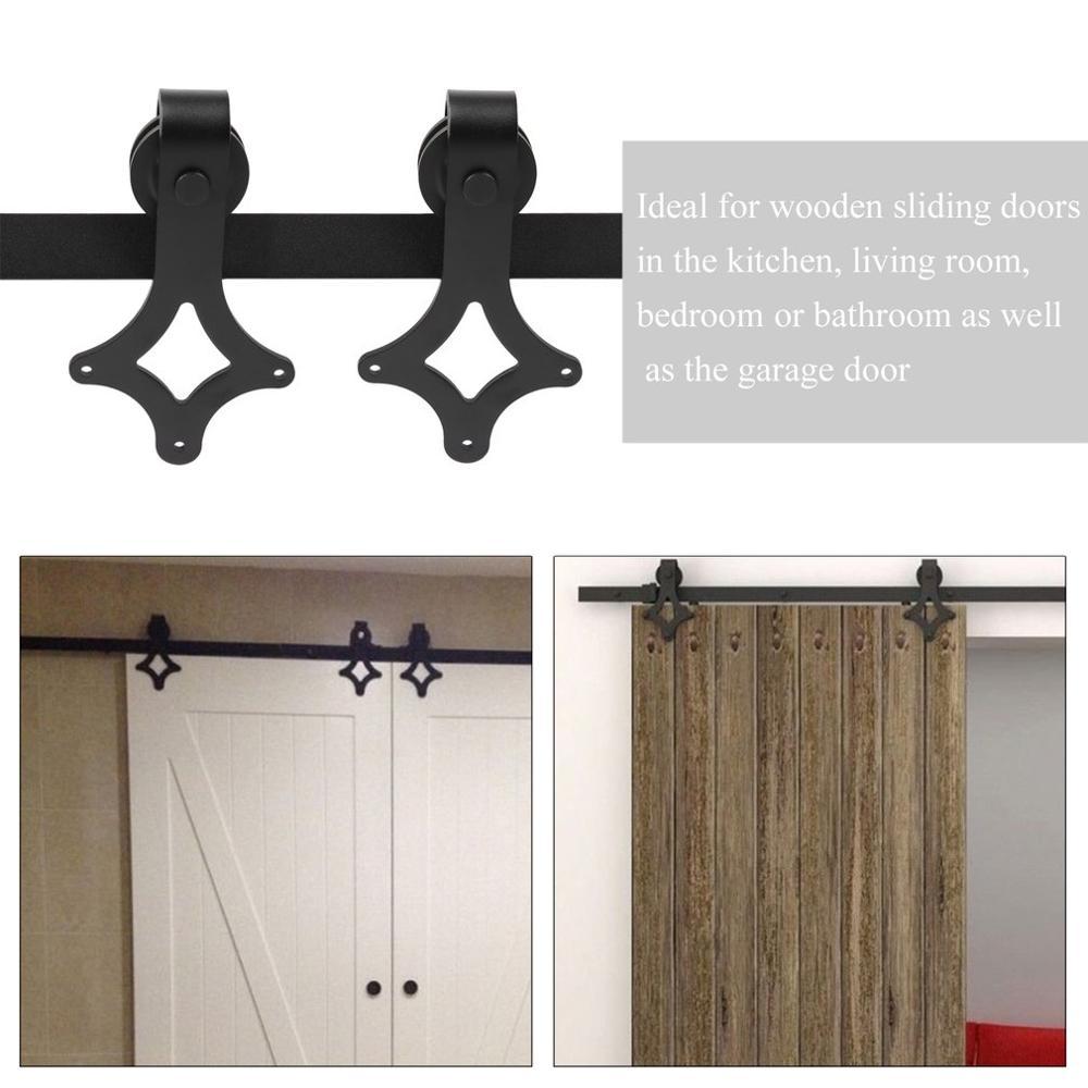 Système de porte coulissante robuste en forme de losange pour la maison