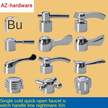 Faucet Handle Switch Handle Accessories Triangle Valve Small Spout Dish Basin Single Cold Quick Open Valve Core Handwheel
