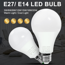 E14 Led Bulb 220v E27 LED Light 240V Lampada Lamp 3W 6W 9W 12W 15W 18W 20W Ampoule Spotlight Table Home 2835