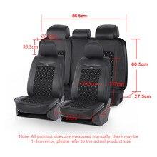 Cubierta universal de asiento de coche, funda de cuero PU de gamuza con patrón de diamante, se adapta a la mayoría de coches de lujo, gama alta, para interiores