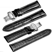 Double layer Genuine Crocodile Skin For Omega IWC DW Longines Watch Strap Alligator Leather Band 12mm 14mm 16mm 18mm 20mm 22mm