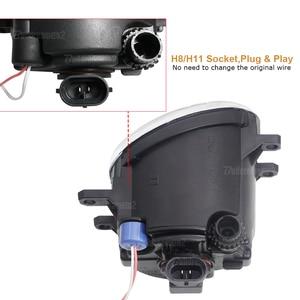 Image 2 - 2 X LED Angel Eye Nebel Licht Auto Front Nebel Lampe 12V Für Toyota Land Cruiser Prado Corolla Prius verso Avensis Estima Allion Aygo