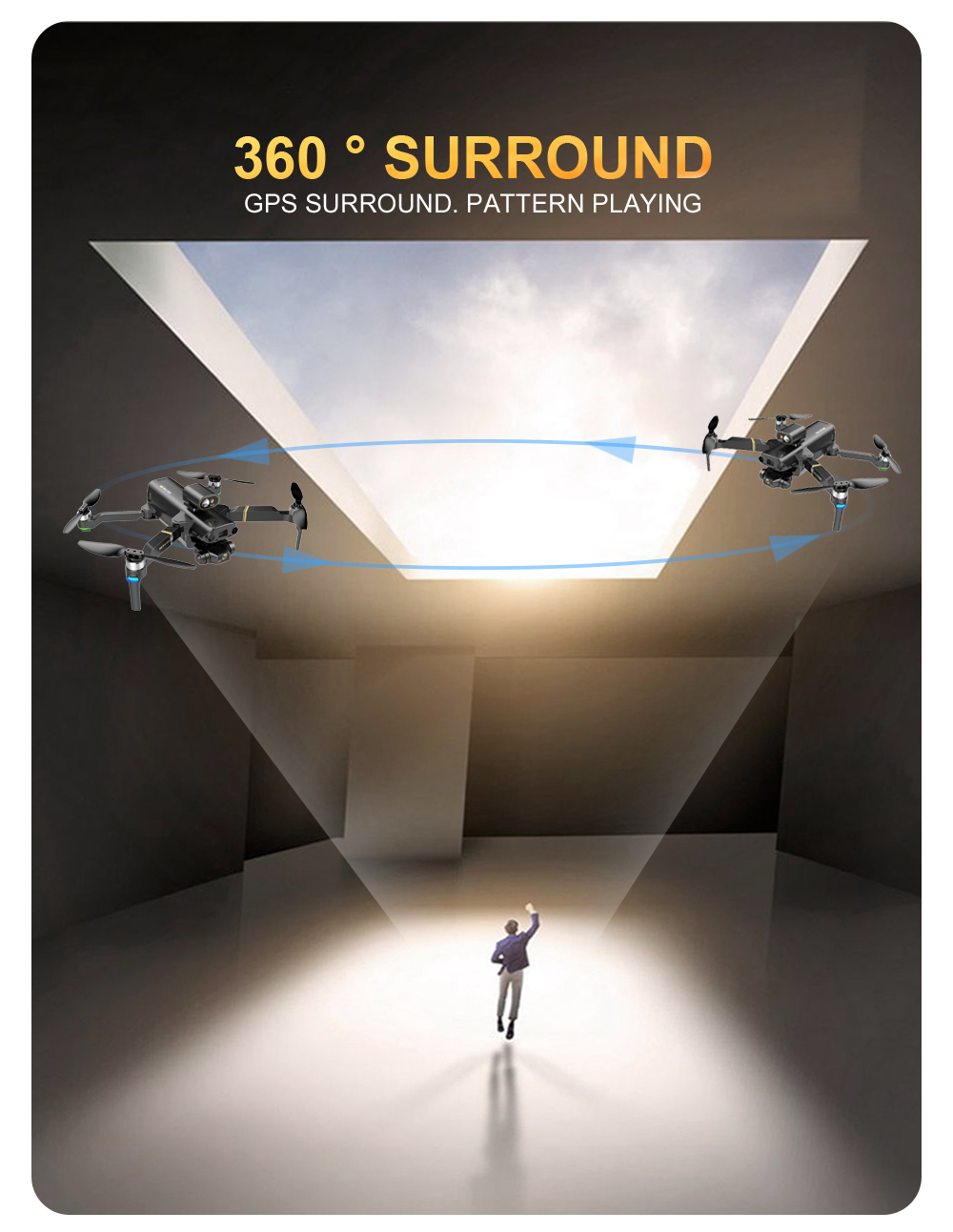 He88baa3266dd46da99020e43d072eb3cZ - KAI ONE MAX GPS Drone 4K Camera 5G FPV WiFi Laser Obstacle Avoidance Altitude Hold Brushless RC Quadcopter Profesional Dron