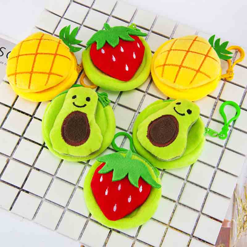 2020 New Kawaii Fruits Children Zip Coin Bag Purse Kids Wallet Pouch Case Bag Women Lady Mini Handbags Pouch Beauty Holder Bag