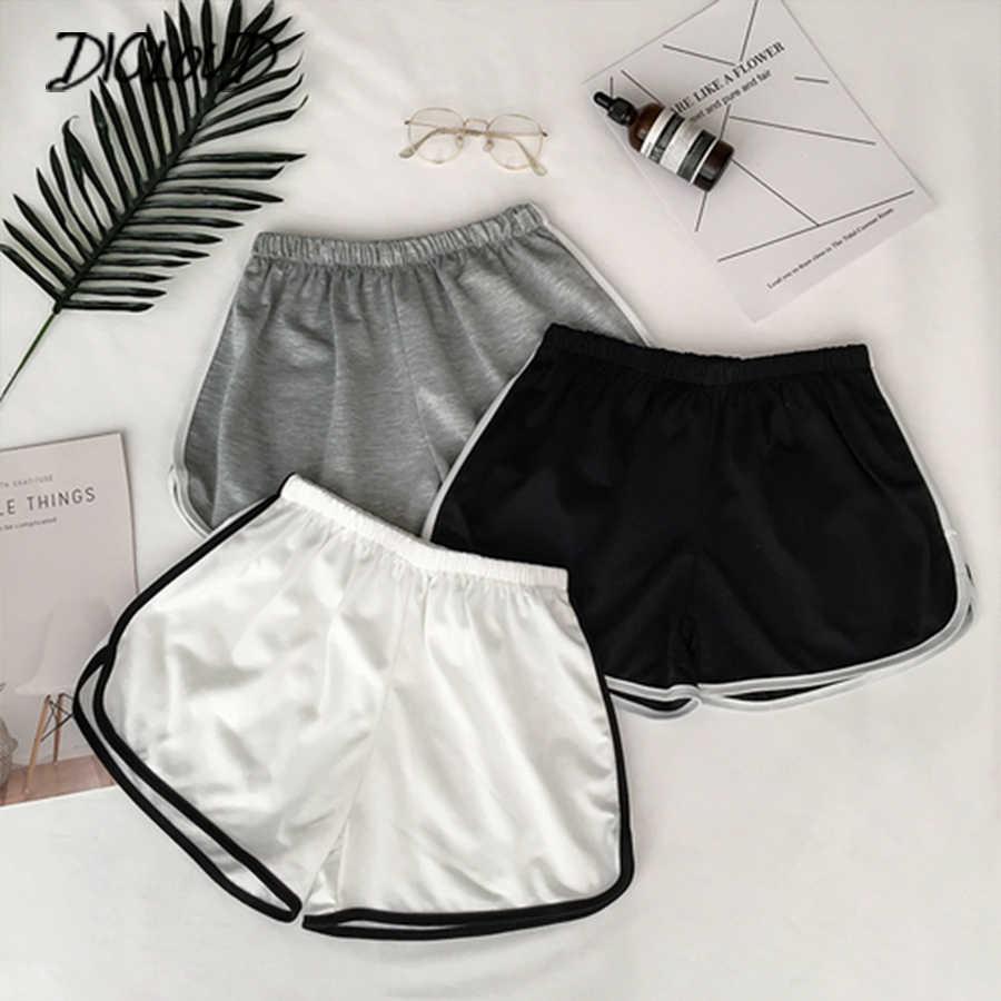 2019 proste damskie wygodne szorty Patchwork Body Fitness treningowe szorty na lato kobiece elastyczne Skinny Slim Beach Egde Short Hot
