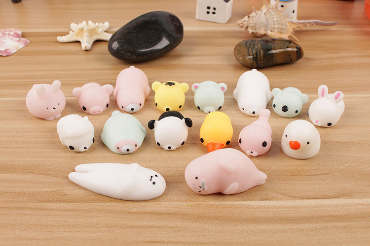 Kawaii Toy Fidget-Toys Decompression-Toy Reliever-Decor Stress Mochi Cat Squeeze Pop It img4