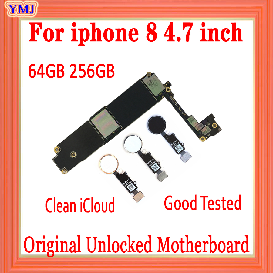 64GB Original <font><b>Motherboard</b></font> for <font><b>iphone</b></font> <font><b>8</b></font> <font><b>Motherboard</b></font> 256gb unlocked Logic Boards for <font><b>iphone</b></font> <font><b>8</b></font> 4.7inch <font><b>with</b></font> / Without <font><b>Touch</b></font> <font><b>ID</b></font> image