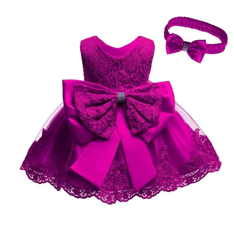 Sukienka dla niemowląt niemowlę wesele sukienka księżniczka dla Baby Girl pierwsze 1 rok urodziny sukienka dla dzieci sukienka do chrztu noworodka odzież