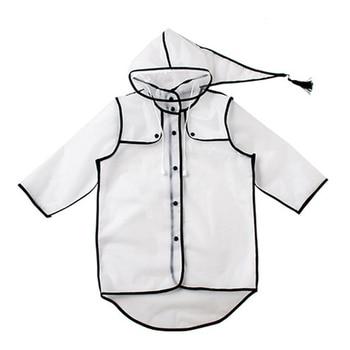 EVA Hooded Transparent Baby Boys Rainwear Children's Raincoat Girl's Raincoats Child Poncho Waterproof Rain Coat Women CC50YY