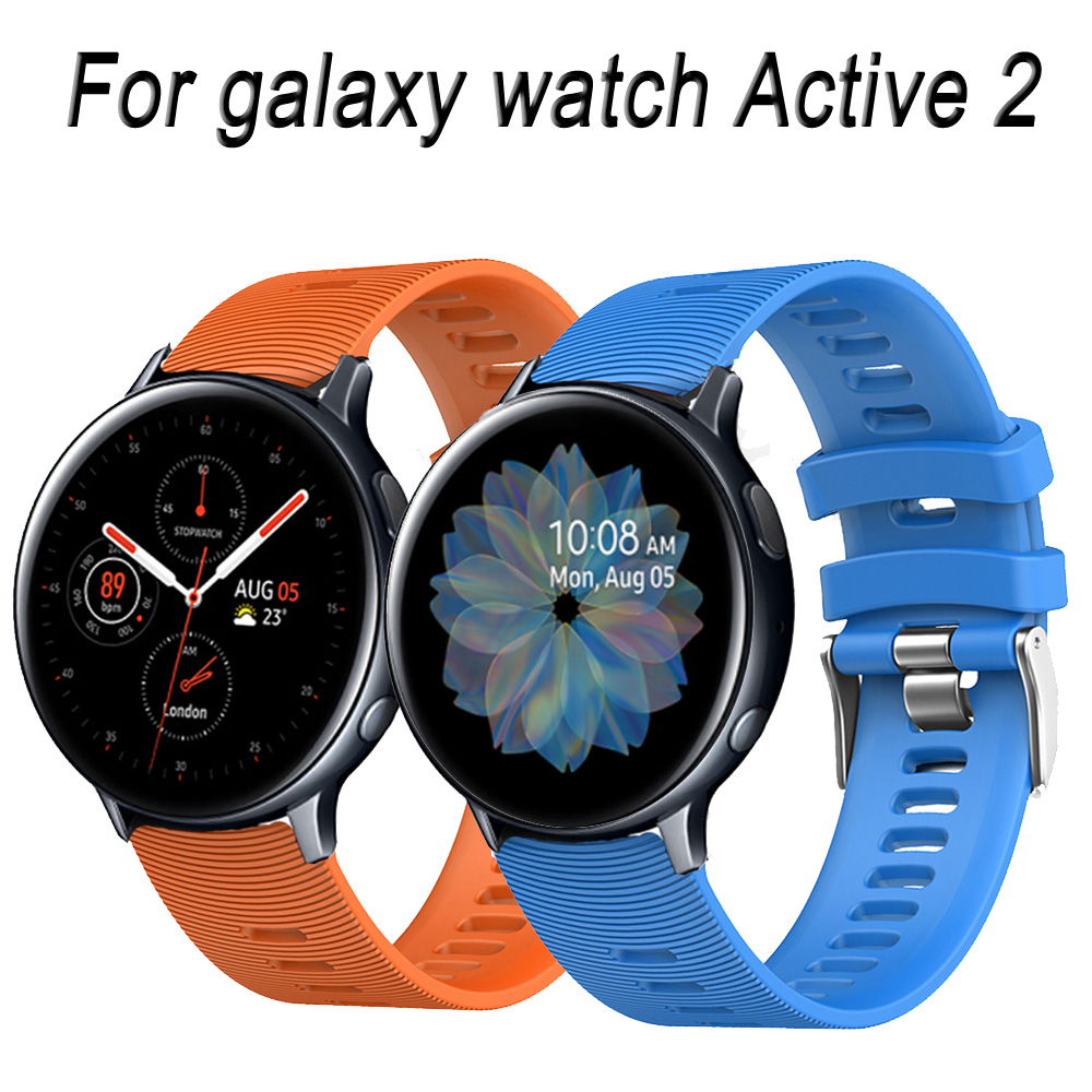 For Samsung Galaxy Watch Active 2 40mm 44mm Watchband 20mm Watch Strap Sport Silicone Band Wristband Active2 ремешок для часов