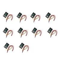 10PcsDC 0-100V 10A 디지털 전압계 전류계 듀얼 디스플레이 전압 검출기 전류 측정기 패널 앰프 전압계 0.28 인치 적색 청색