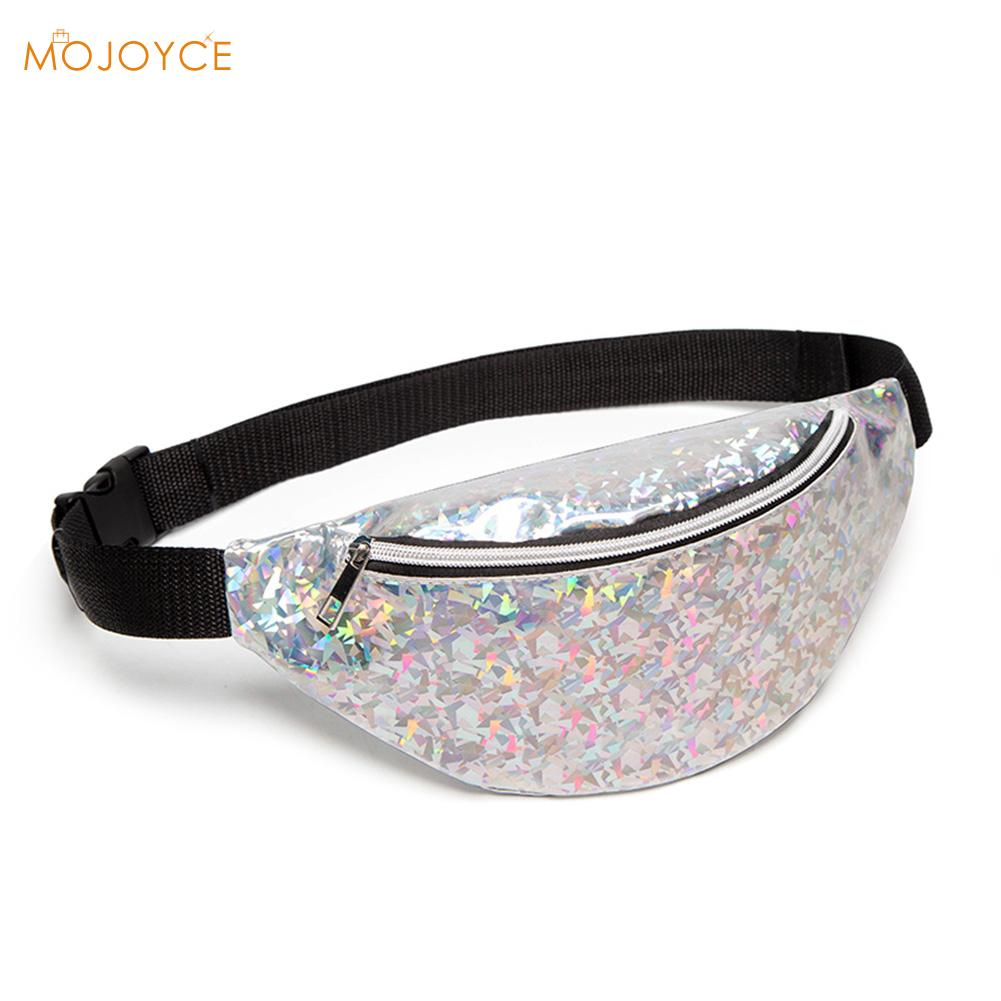 Small Laser Women Waist Bag Fanny Pack Running Zip Belt Money Pouch Holiday Chest Bag Tote Casual Shoulder Bags Satchel Dropship