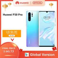 Globale Versione Huawei P30 Pro 8 Gb 256 Gb Kirin 980 Octa Core per Smartphone 50x Zoom Digitale Quad Camera 6.47 ''Completo di Schermo Oled Nfc